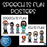 Speech is Fun Posters, Speech Room Decoration