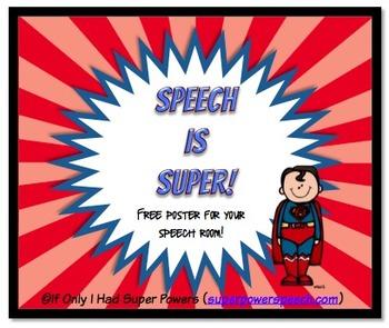 Speech is Super Poster (FREE)