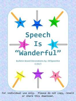 """Speech is """"Wanderful"""" - Bulletin Board Decorations"""