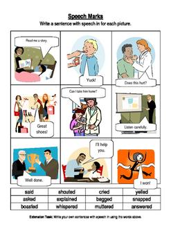Speech marks activity