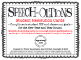 Speech-olutions - Student Resolution Goal Cards