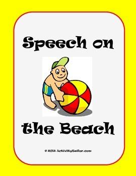 Speech on the Beach (Summer Activities for Artic Practice