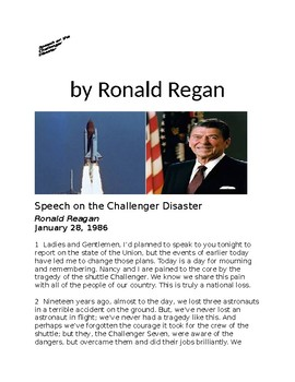 Speech on the Challenger Disaster