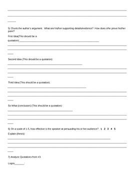 Speech or Essay Analysis