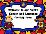 Speech room door sign