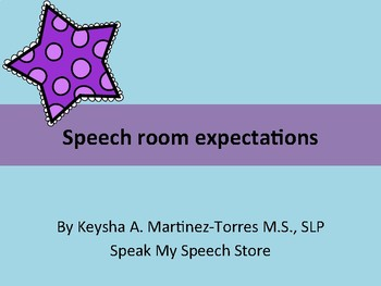 Speech room expectations: Acronym decor