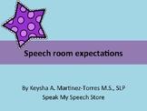 Speech room expectations: Acronym decor