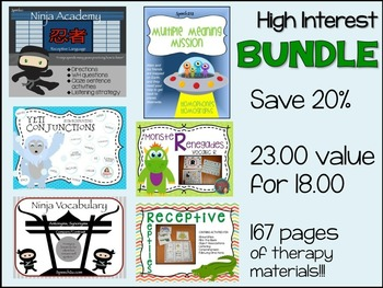 Speech therapy Bundle: High interest Sampler