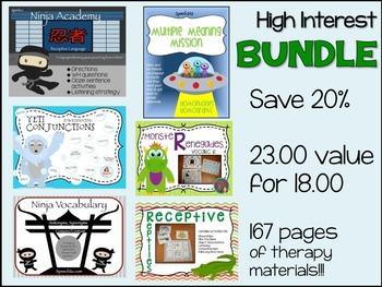 Speech therapy Bundle: High interest Sampler