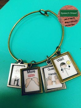 Speech Therapy  Visual Symbol Jewelry for Behavior