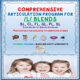 Speech Therapy Comprehensive /L/ Blends Articulation Unit:BL, CL, FL, GL, PL, SL