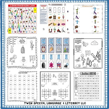 Speech Therapy Comprehensive /L/ Blends Articulation Unit:BL, CL, FL, GL, PL, SL