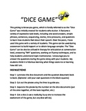Speech therapy dice game