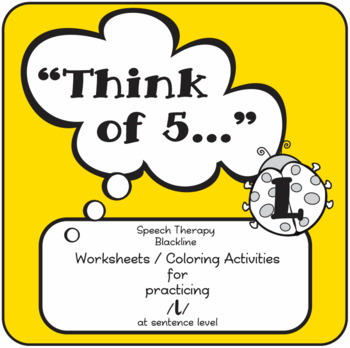 "Speech therapy - /l/ sentence level practice: ""Think of 5."