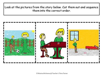 Speech therapy using colorful (colourful) semantics and story sequencing