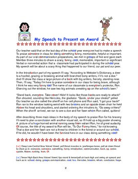 Speech to Present an End of School Year Award