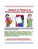 "ESL Speech Skills to Present an ""End of School Year Award"""