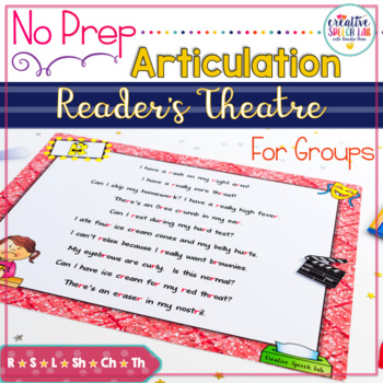 Speech to Stage: Articulation Reader's Theater Plays for G