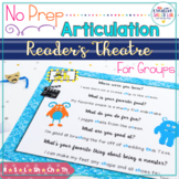 No Prep Articulation Reader's Theater Plays (Monster Theme)