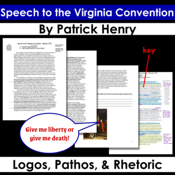 Speech to the Virginia Convention - Annotating Logical and Emotional Appeals