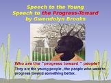 Speech to the Young  by Gwendolyn Brooks- Poem Analysis
