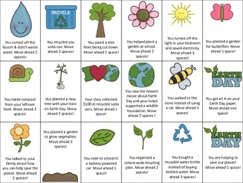 Speech/Language Earth Day Card Game, Matching, and Reinforcing Gameboard!
