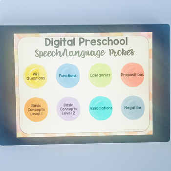 Speech/Language Preschool Probes & Data Collection