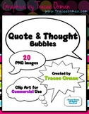 Speech/Quote & Thought Bubble Clip Art for Commercial Use