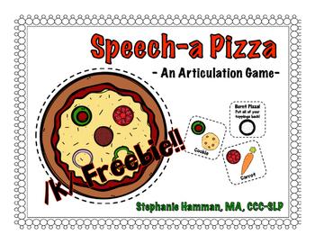 Speecha Pizza Articulation Game - /k/ FREEBIE!!!