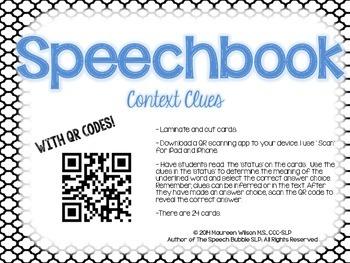 Speechbook: Context Clues