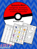 SpeecheMon synonyms, antonyms, and categories