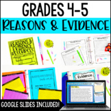 Reasons and Evidence Resource Pack