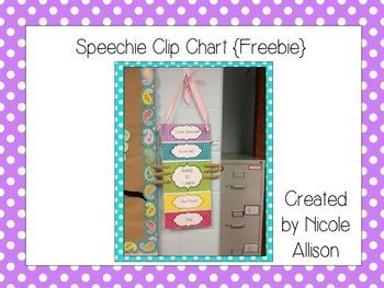 Speechie Clip Chart {Freebie}