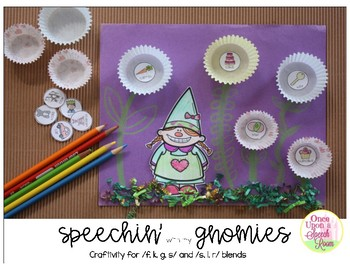 Speechin' with my Gnomies: Craftivity for /f, k, g, s/ and /s, l, r/ blends
