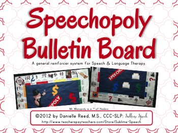 Speech Board Game: An Incentive bulletin board for SLPs