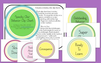 'Speechy Chic' Behavior Clip Chart