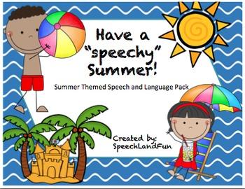 """""""Speechy"""" Summer! Summer themed speech and language pack."""