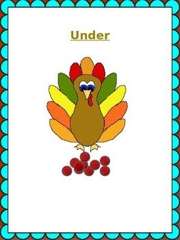 SpeechyQueen Thanksgiving Spatial Concepts