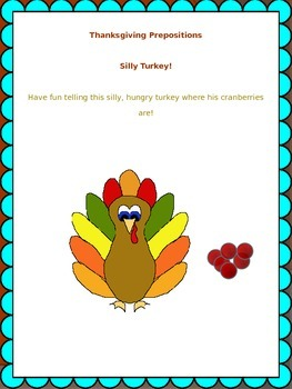 SpeechyQueen Thanksgiving Spatial Concepts