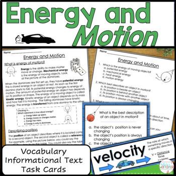 Motion Task Cards