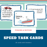 Speed, Acceleration, Velocity Task Cards