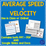 Average Speed & Velocity Notes Worksheets and Logic Puzzle
