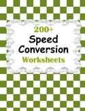 Speed Conversion Worksheets