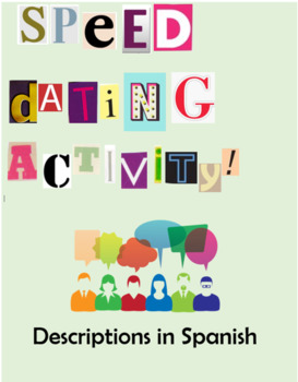 Spanish Adjectives / Introductions Speed Dating Activity