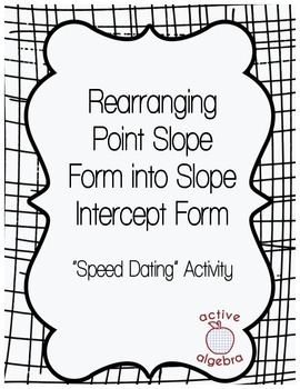 Speed Dating Activity: Rearranging Point Slope Form to Slope Intercept Form