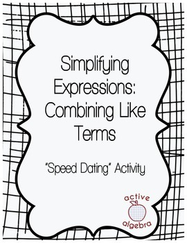 Speed Dating Activity: Simplifying Expressions - Combining