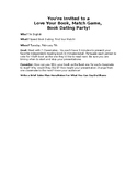 Speed Dating Book Matchmakers