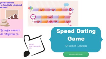 Speed Dating Cards+Game Board- Spanish