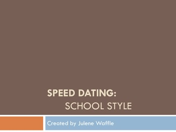 Speed Dating: School Style