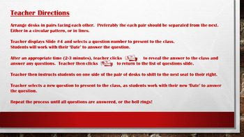Speed Dating - Solving Multi-Step Equations - PowerPoint